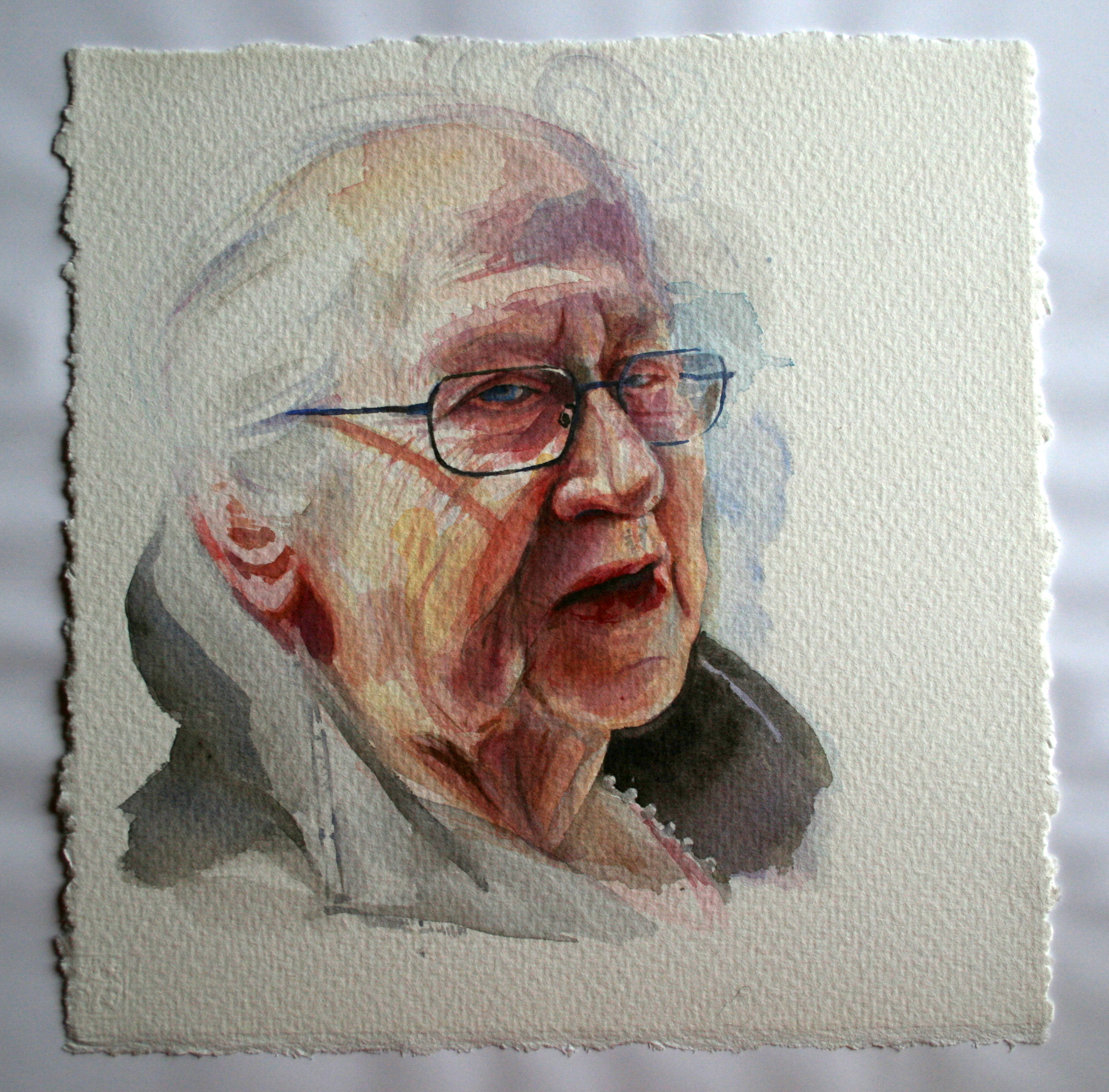 Portrait in aquarelle of Margit